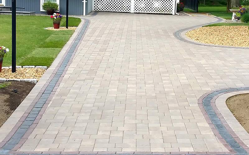 Hawkes Hardscape & Landscape Design - Driveway installed with pavers